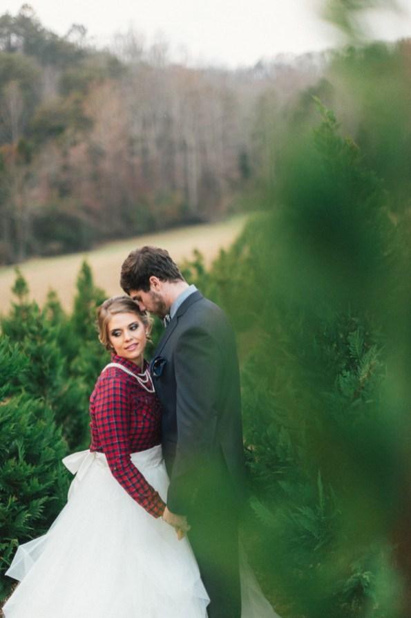 Festive Wedding Inspiration on a Christmas Tree Farm 24