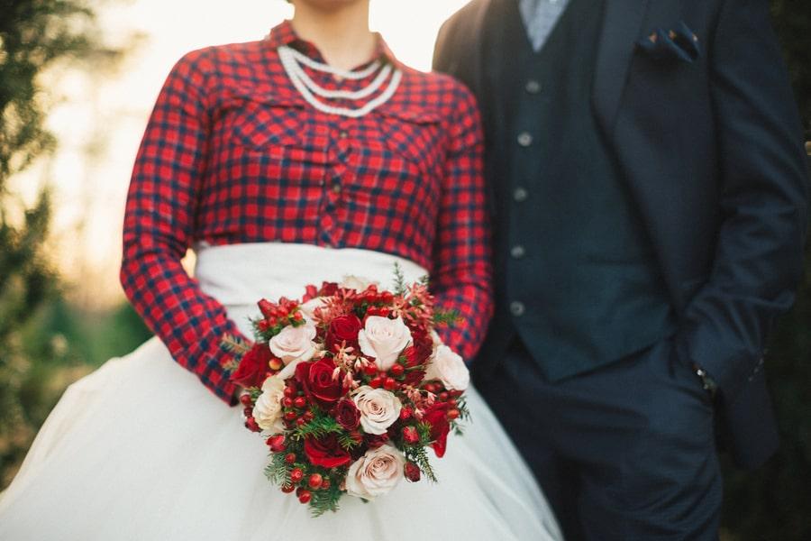 Festive Wedding Inspiration on a Christmas Tree Farm 6
