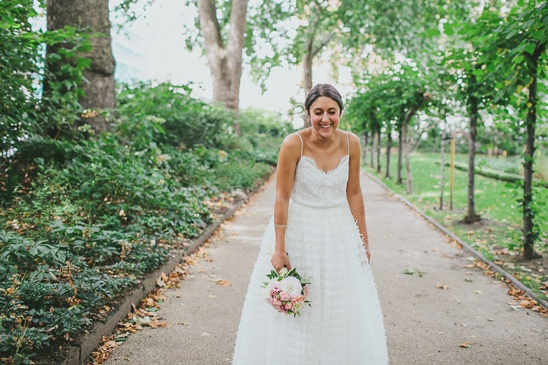 Glamorous two piece wedding gown for a relaxed rooftop wedding in Camden (2)