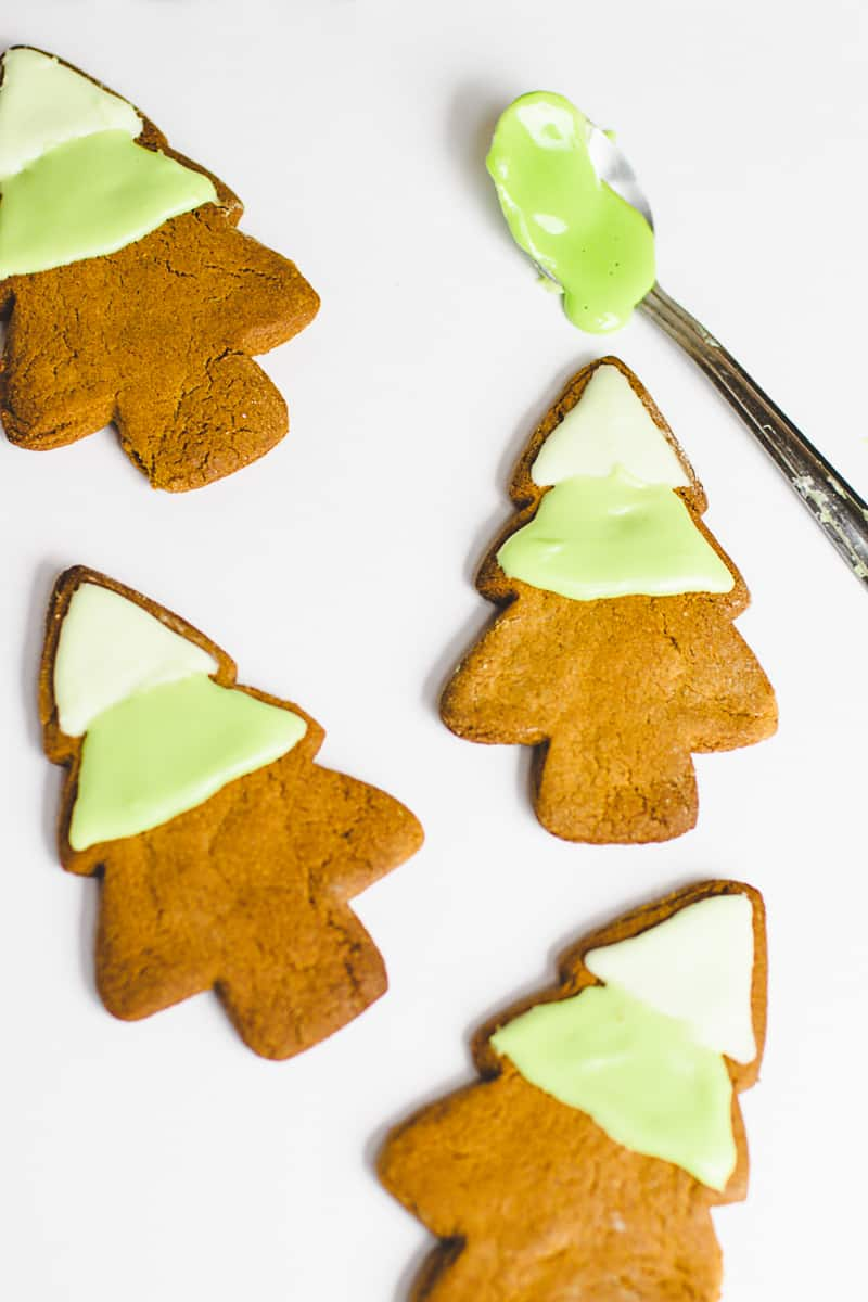 Ombre Iced Christmas Tree Cookies Festive Recipe Baking