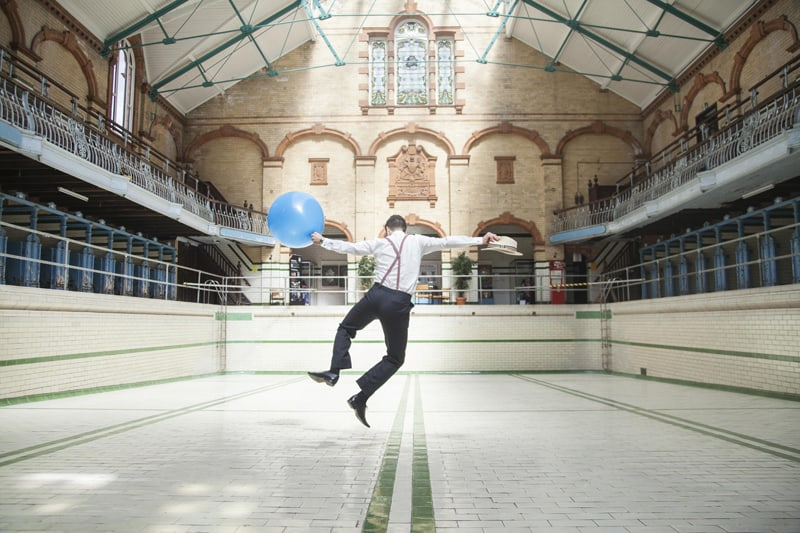 Quirky, Laid back styled wedding shoot at Victoria Baths Manchester (24)