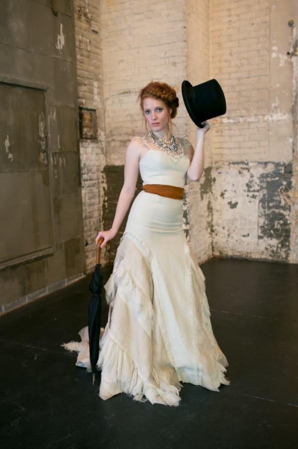 Steampunk Wedding Inspiration metals bride shoot 26