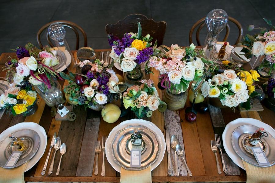 Steampunk Wedding Inspiration metals bride shoot 31