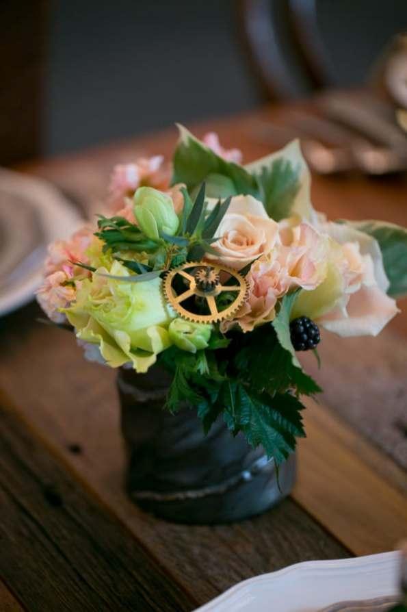 Steampunk Wedding Inspiration metals bride shoot 37