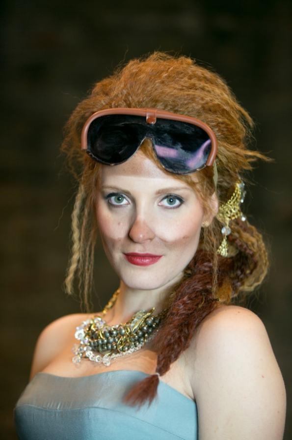Steampunk Wedding Inspiration metals bride shoot 40