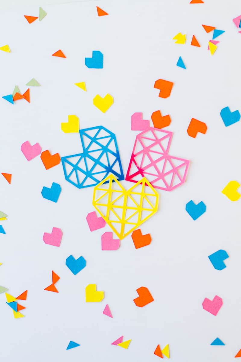 A month of hearts on Bespoke Bride Confetti Geometric Colorful