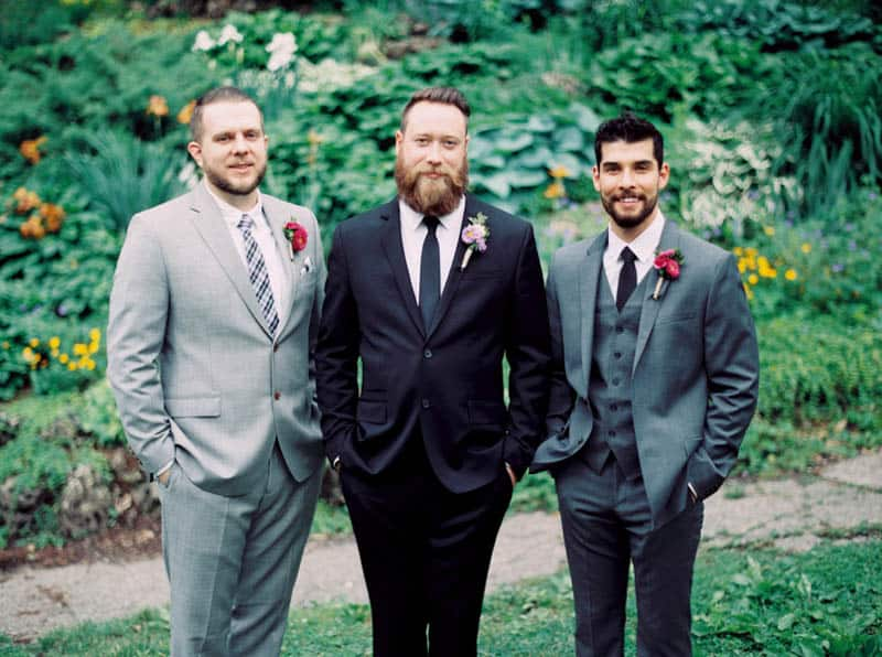 Close Knit Family & Friend DIY Wedding, Bride with Purple Petticoat (1)