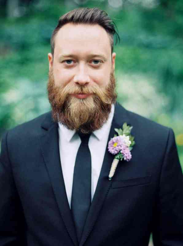 Close Knit Family & Friend DIY Wedding, Bride with Purple Petticoat (2)