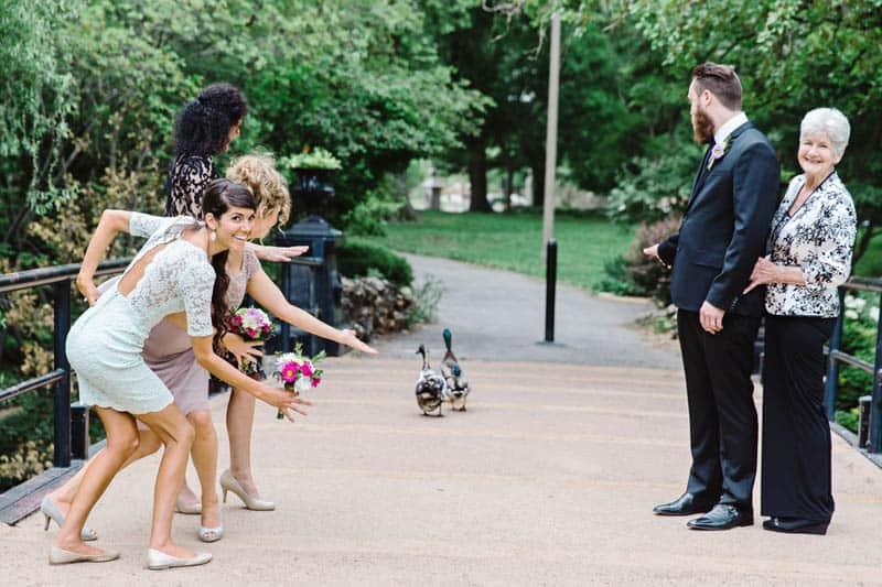 Close Knit Family & Friend DIY Wedding, Bride with Purple Petticoat (21)