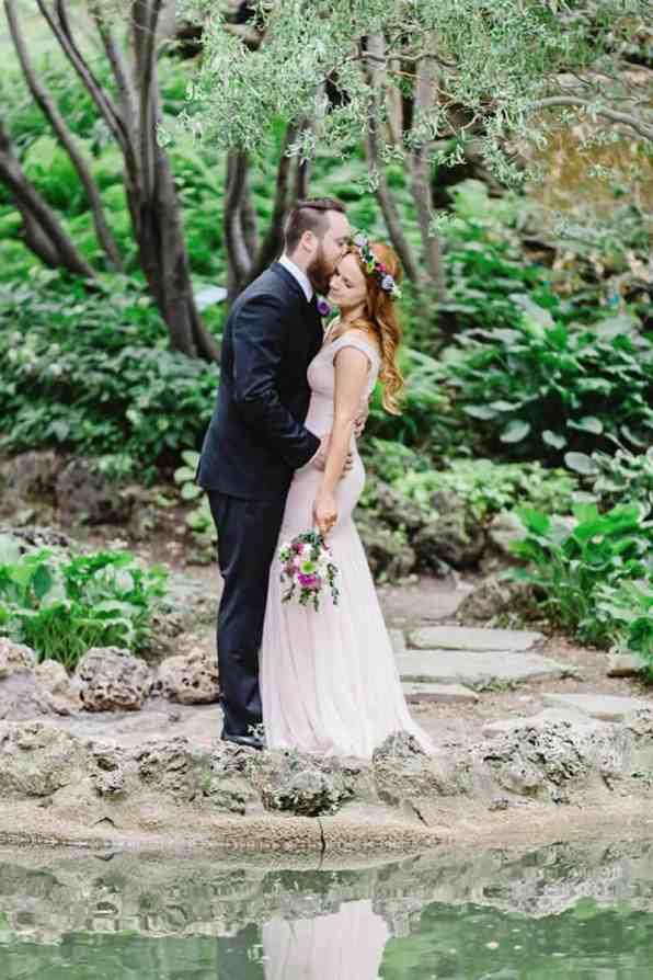 Close Knit Family & Friend DIY Wedding, Bride with Purple Petticoat (24)