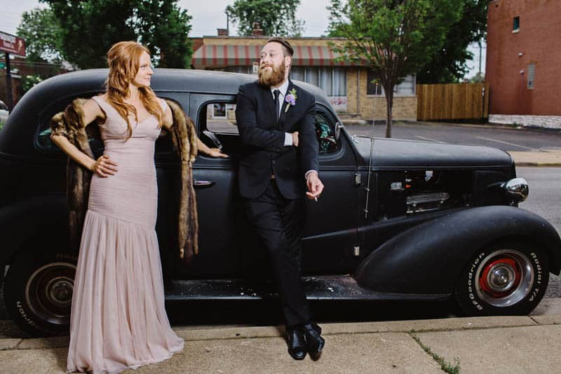 Close Knit Family & Friend DIY Wedding, Bride with Purple Petticoat (31)