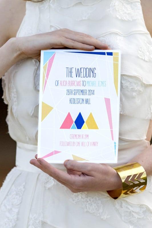 Geometric Wedding Styling Festival Brides