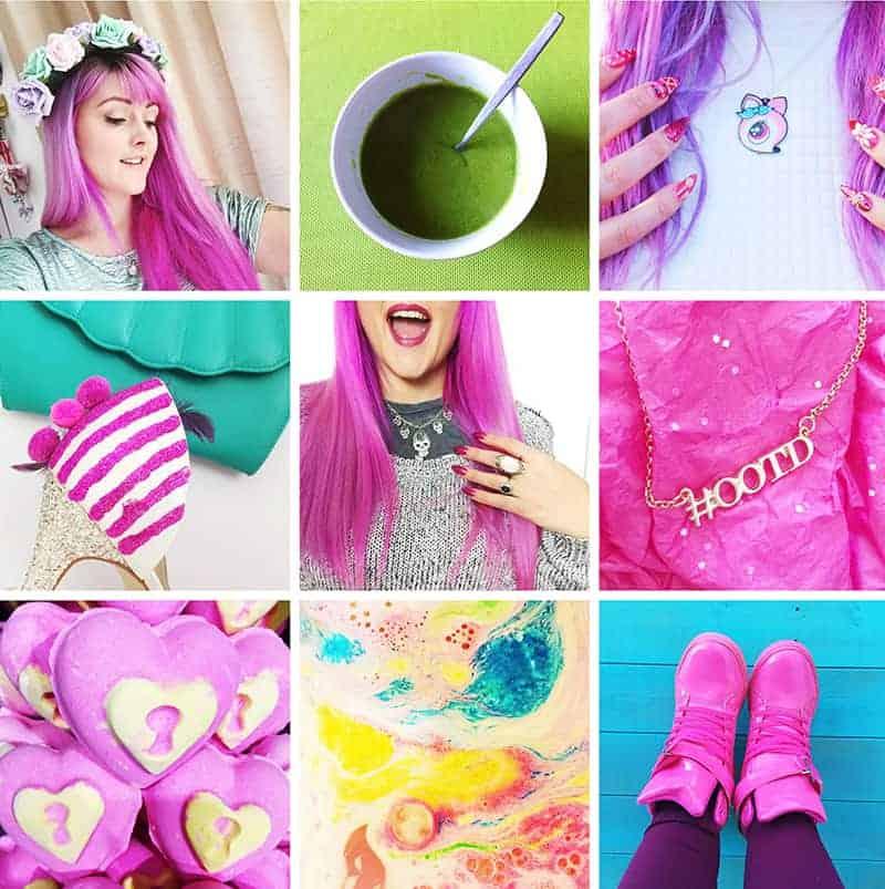 Mermaid Gossip colourful pink instagram account