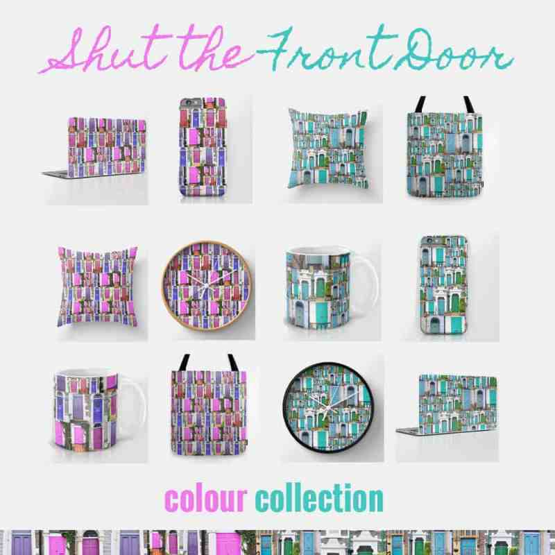 Shut-the-Front-Door-Product-List-from Mermaid Gossip on Society 6