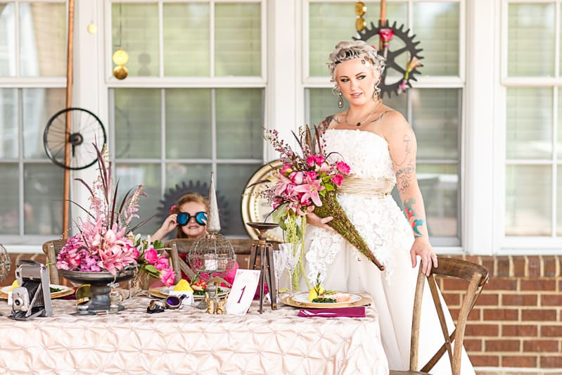 Steampunk Colourful Vibrant Colours Pink Wedding Inspiration-12