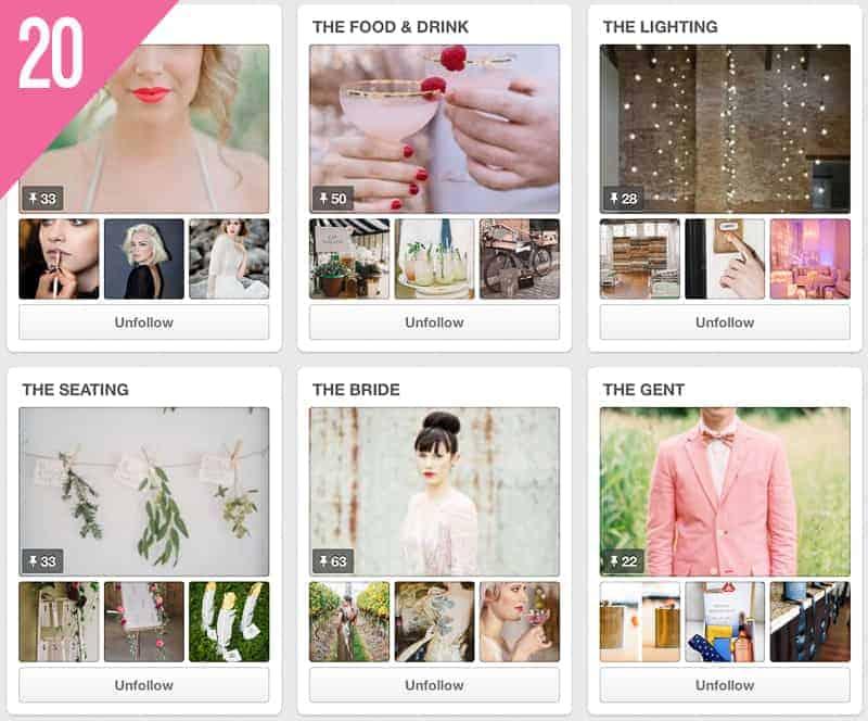 20 London Bride Wedding Pinterest Account to Follow