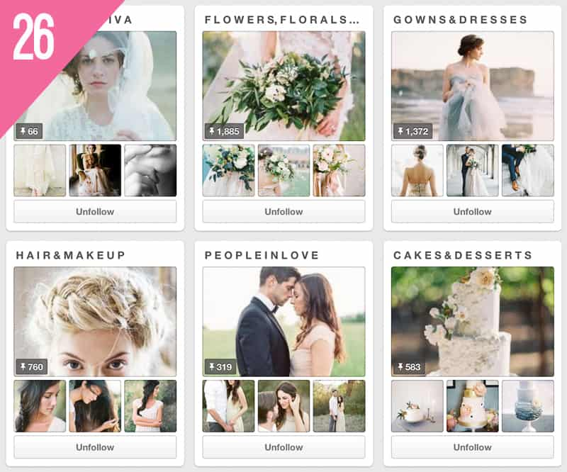 26 Wedding Sparrow Pinterest Accounts to Follow Inspiration