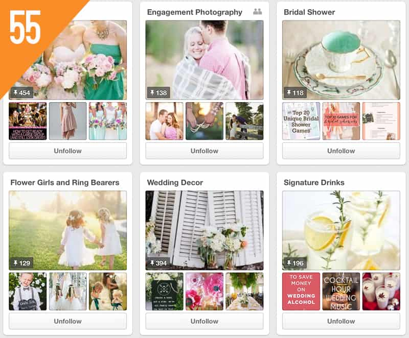 55 Loverly Weddings Pinterest Accounts to Follow for Inspiration