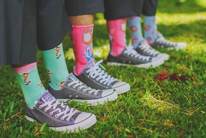 Colourful Cartoon Groom Socks Groomsmen