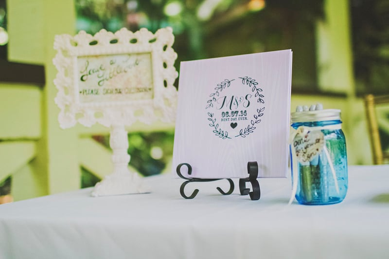 DIY whimsical wedding decor