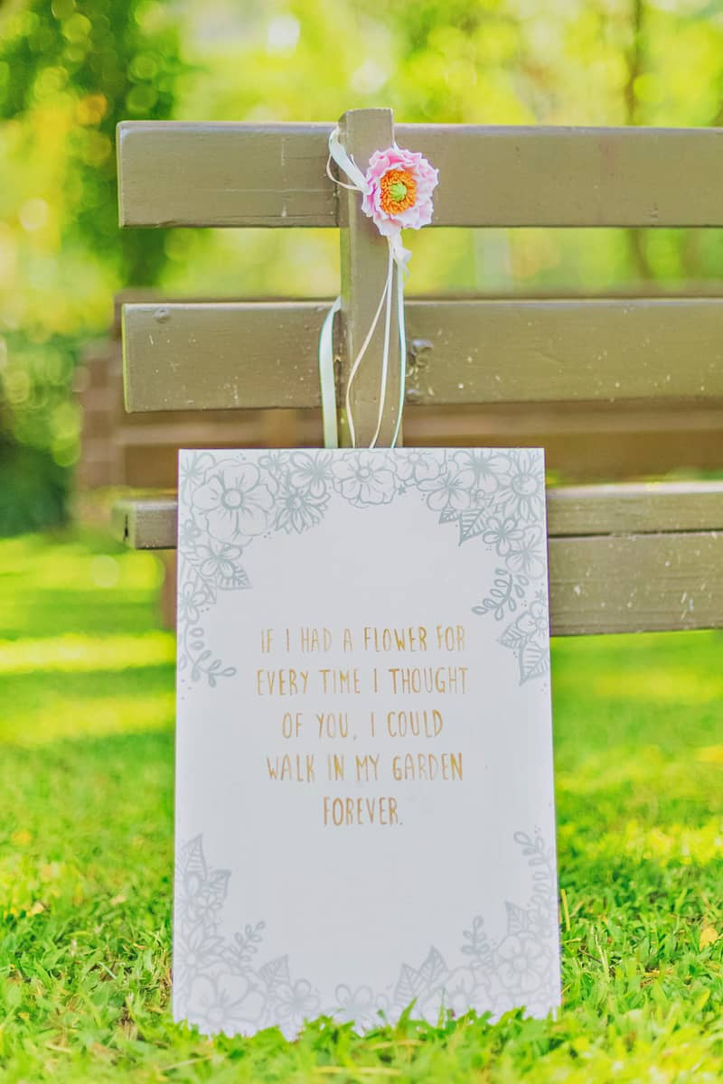 If i had a flower DIY sign wedding decor