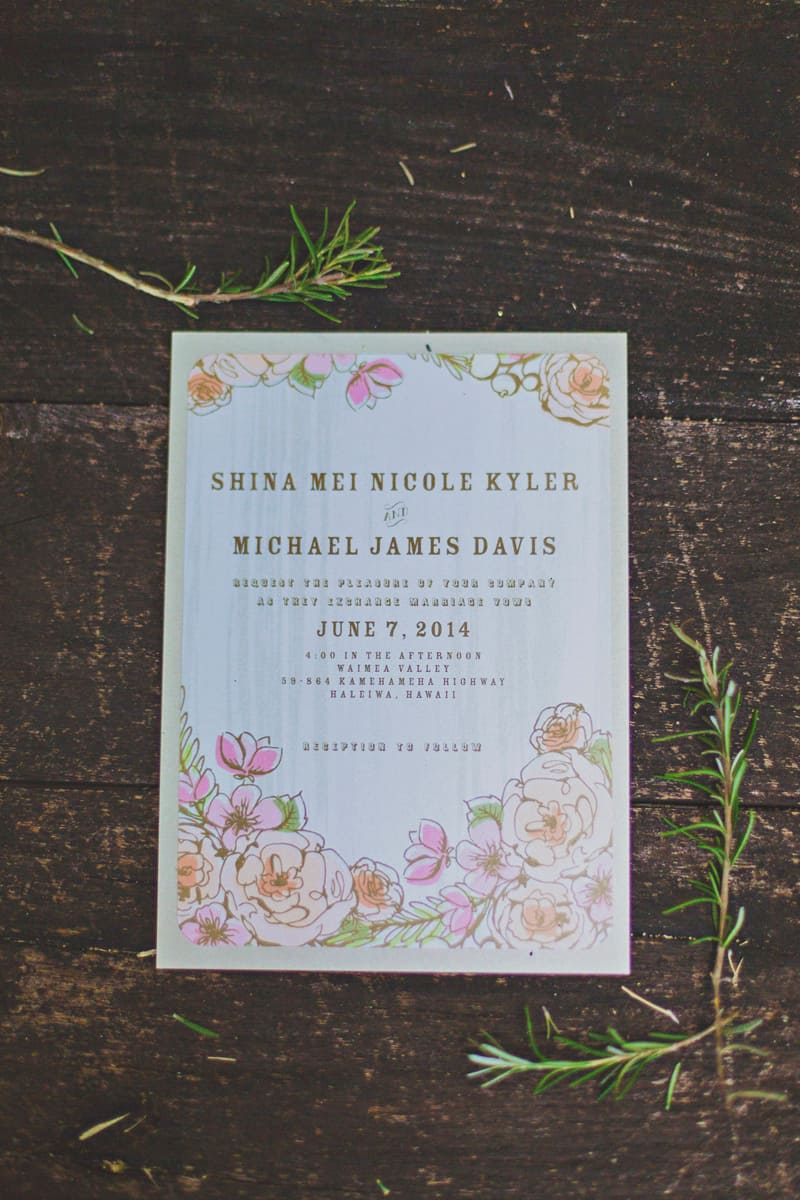 Wedding Paper Divas Stationery Flower Floral Wedding Invitations
