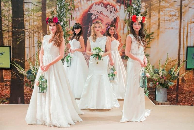 dresses on catwalk