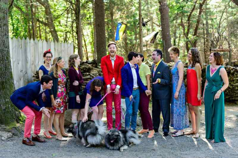 A SAME SEX COLOURFUL HANDMADE WEDDING AT A FOREST RETREAT IN Massachusetts (23)