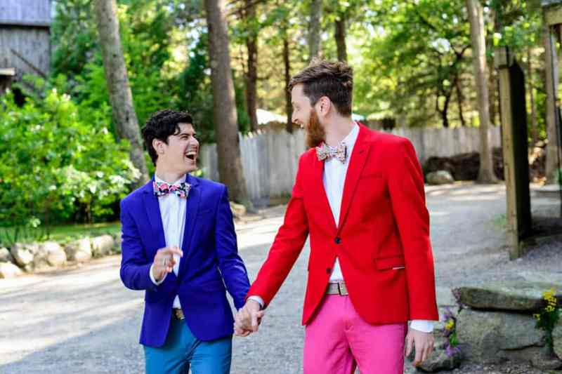 A SAME SEX COLOURFUL HANDMADE WEDDING AT A FOREST RETREAT IN Massachusetts (26)