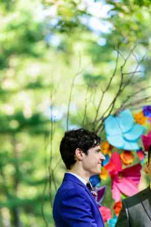 A SAME SEX COLOURFUL HANDMADE WEDDING AT A FOREST RETREAT IN Massachusetts (31)