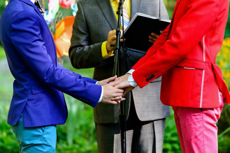 A SAME SEX COLOURFUL HANDMADE WEDDING AT A FOREST RETREAT IN Massachusetts (34)