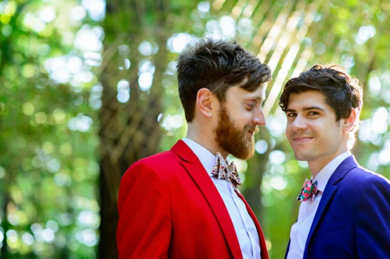 A SAME SEX COLOURFUL HANDMADE WEDDING AT A FOREST RETREAT IN Massachusetts (39)