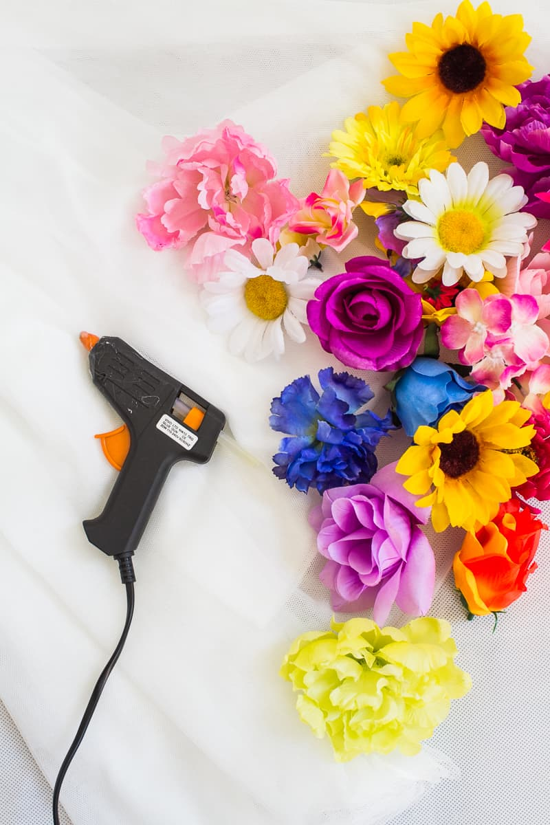Diy Flower Filled Tulle Skirt Fashion Wedding Tutorial