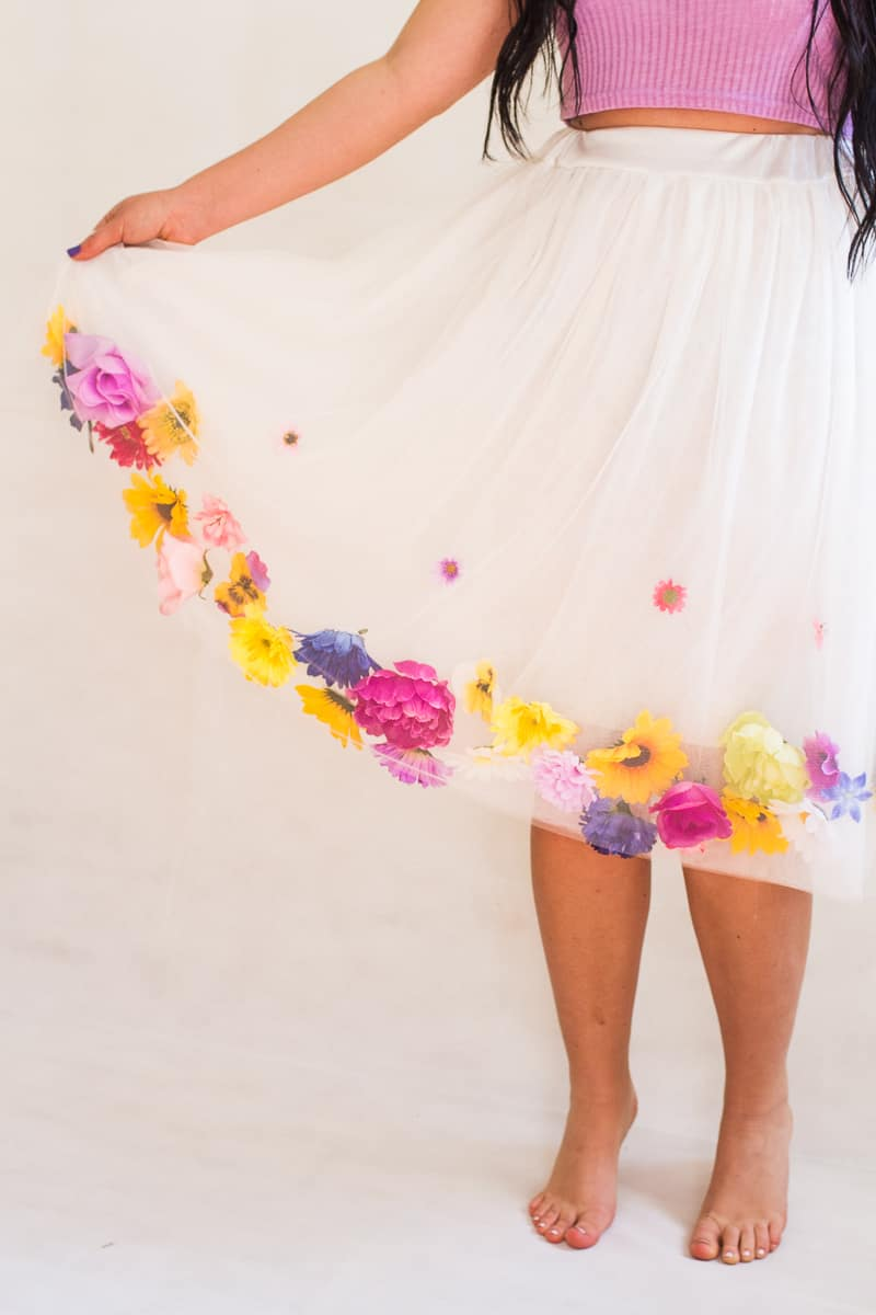 DIY Flower Tulle Skirt Tutorial Spring Summer Fashion Wedding do it yourself-6