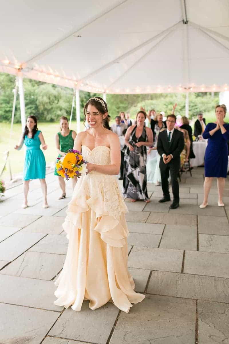 Pinwheel Themed Wedding with Colourful Sunflowers Backyard Inspiration-24