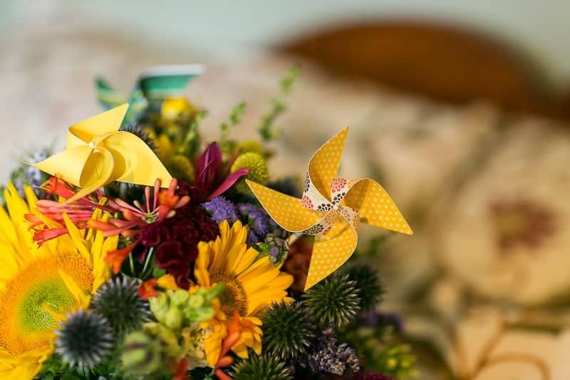 Pinwheel Themed Wedding with Colourful Sunflowers Backyard Inspiration-3