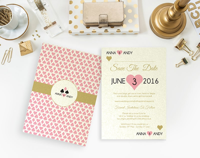wedding stationery by LOVELI (8) Very Vegas