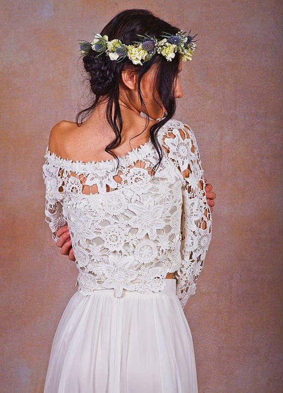 2 Piece Crochet Wedding Dress