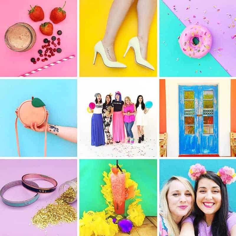 Bespoke Bride Colourful Instagram