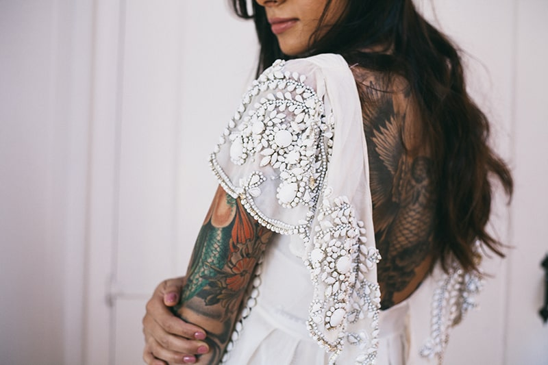 Bohemian Boho Wedding Inspiration Floppy Hat Bride Festival 27