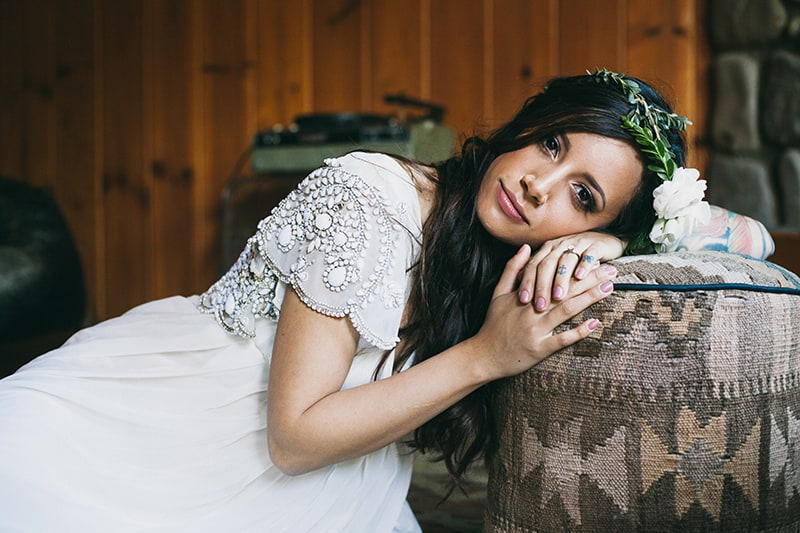 Bohemian Boho Wedding Inspiration Floppy Hat Bride Festival 3