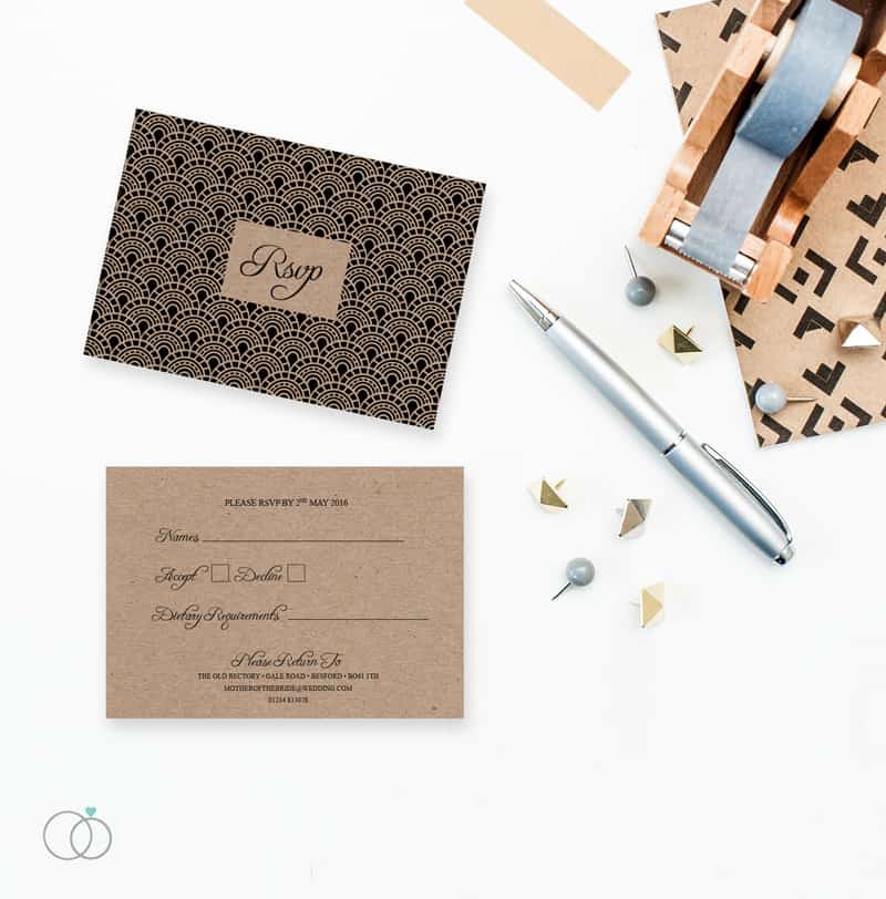 LOVELI GATSBY COLLECTION WEDDING STATIONERY VINTAGE (4)
