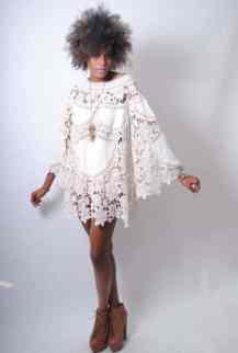 Lace Crochet Casual Wedding Dress Festival Bohemian