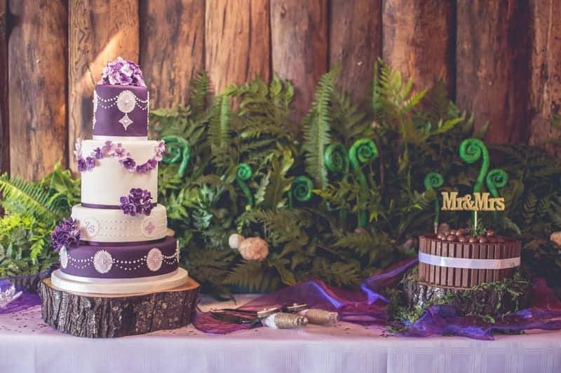 Sharlene and Zane's Bold Woodland Wedding in a treehouse  (10)