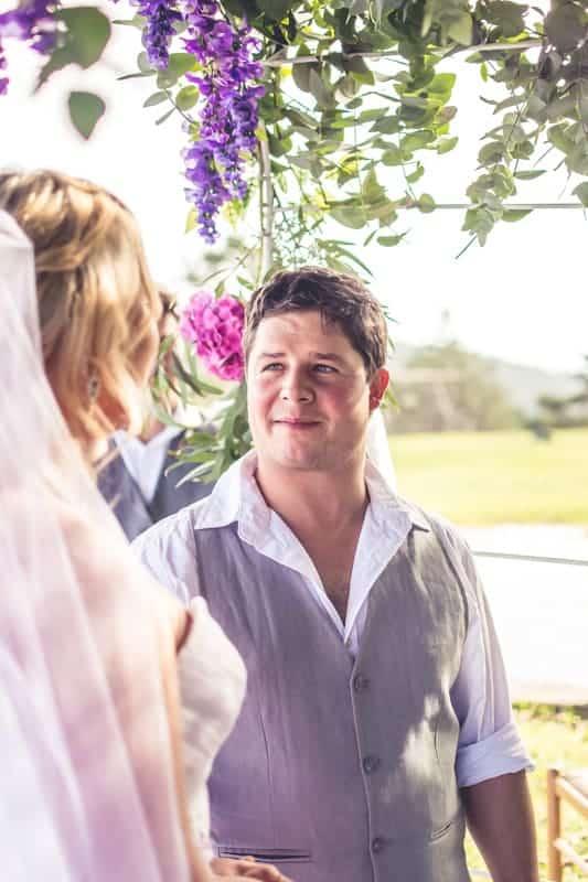 Sharlene and Zane's Bold Woodland Wedding in a treehouse (14)