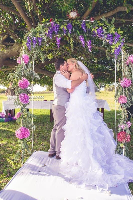 Sharlene and Zane's Bold Woodland Wedding in a treehouse (16)
