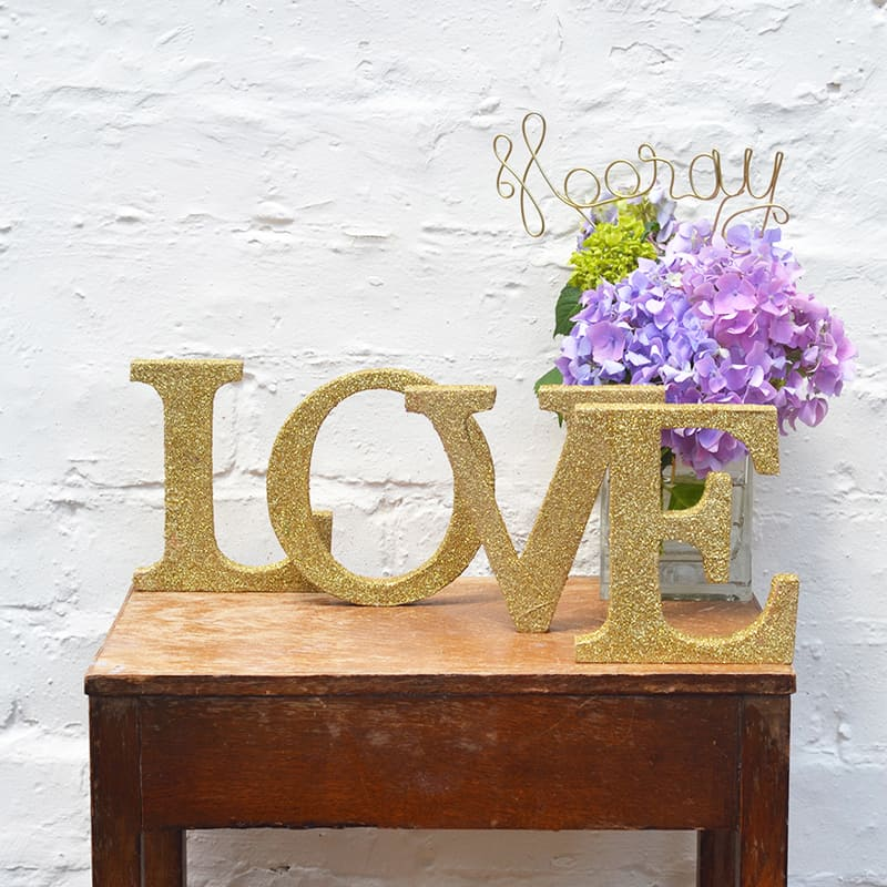 GLITTER LOVE SIGN THE LETTER LOFT