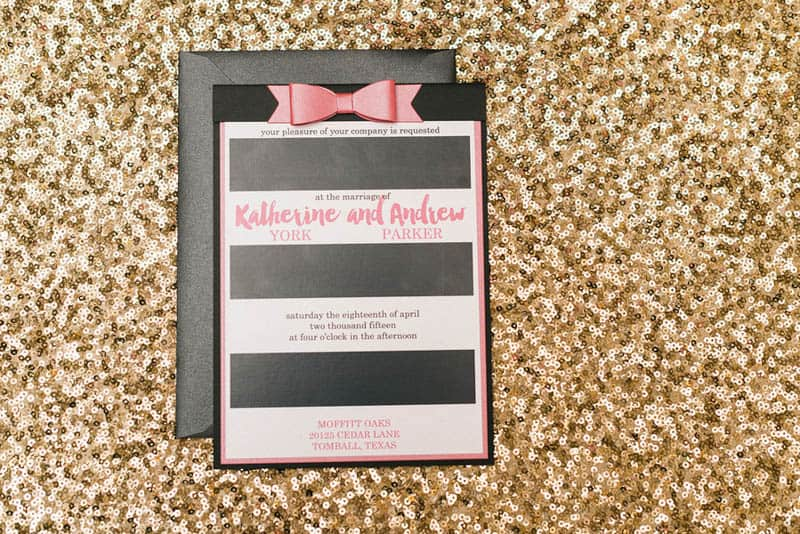 KATE SPADE INSPIRED WEDDING WITH A BLACK AND WHITE STIPE BRIDAL GOWN (4)