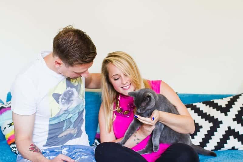 Emily & Matt's big news colourful engagement announcement shoot-42
