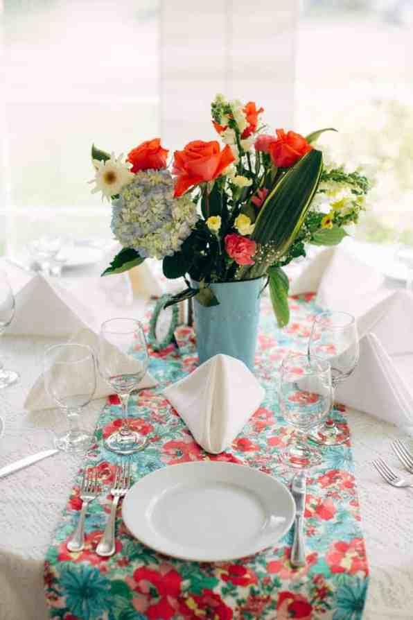 Backyard Flamino themed DIY Wedding in South Hampton USA (10)